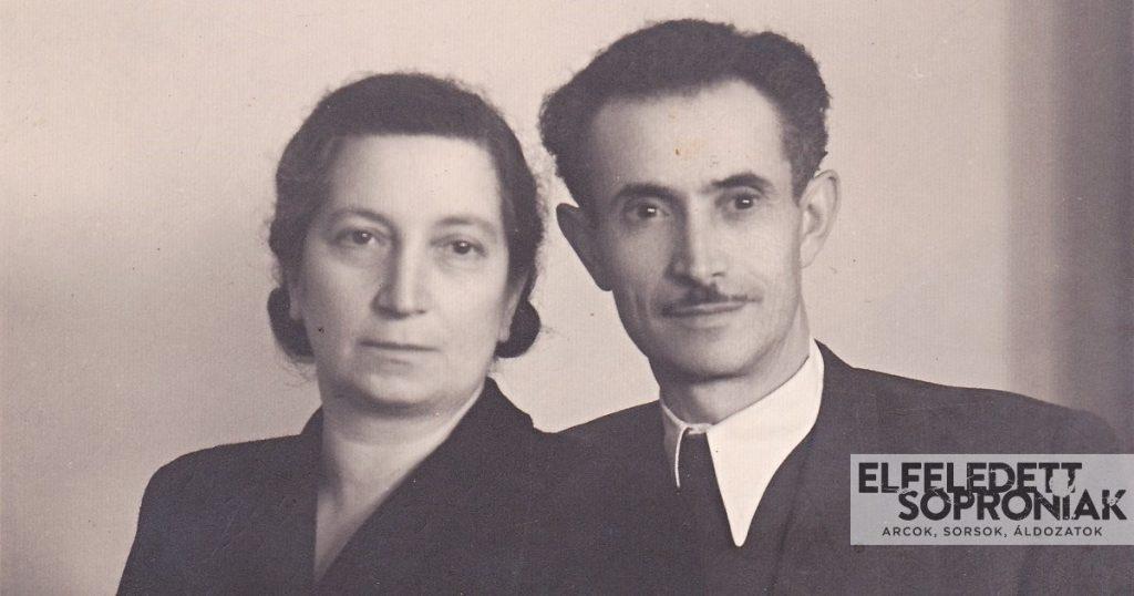 Steuer Adolf második feleségével, Mandl Malvinnal