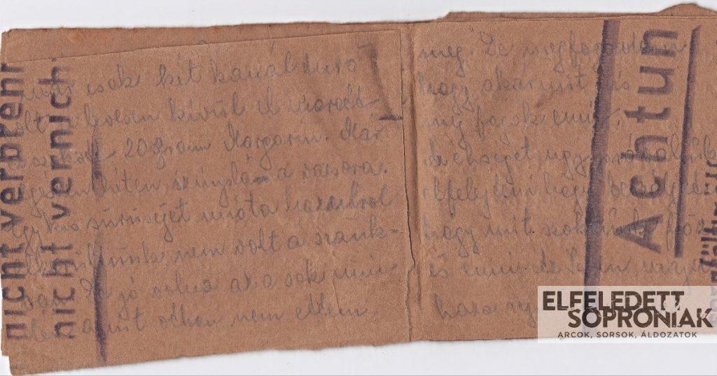 Diamant Károlyné (sz. Steuer Julianna) túlélő naplója