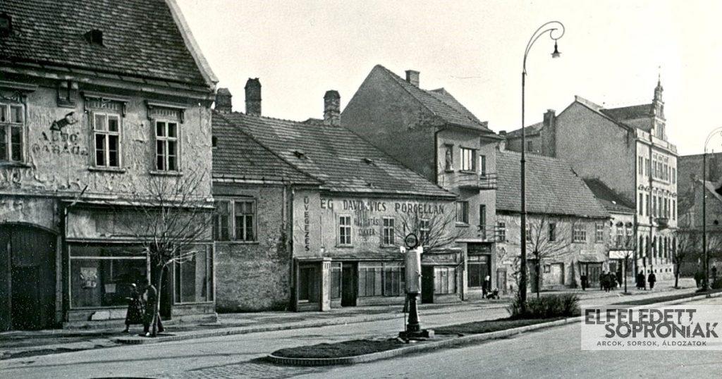 Soproni Várkerület elhagyott zsidó üzletekkel